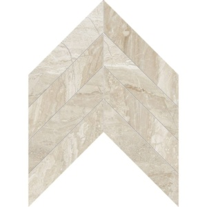 Diana Royal Honed Chevron Marble Waterjet Decos 13x10