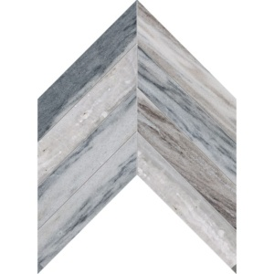 Palisandra Polished Chevron Marble Waterjet Decos 13x10