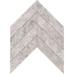 Silver Clouds Polished Chevron Marble Waterjet Decos 13x10