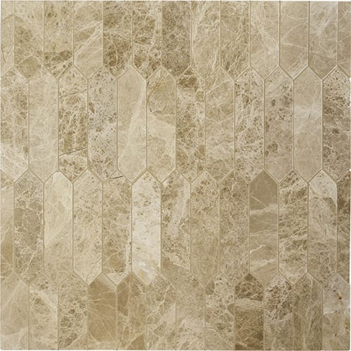 Paradise Polished Baby Picket Marble Mosaics 13 3/16x11