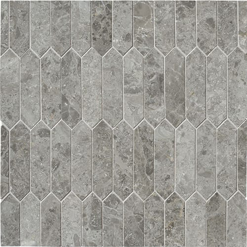 Silver Drop Polished Baby Picket Marble Mosaics 13 3/16x11