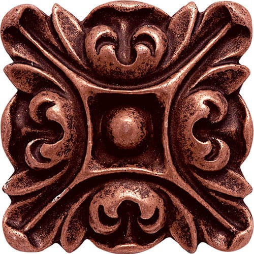 Copper Brushed Crown Metal Decorative 3x3