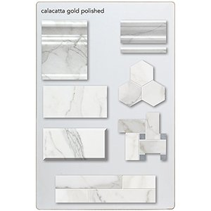 Calacatta Gold Polished Marketing Tool Stringer Boards 12x18