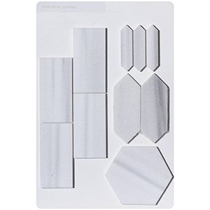 Frost White Polished Marketing Tool Stringer Boards 12x18
