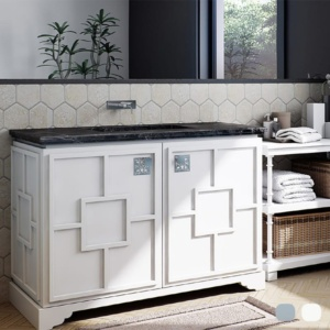 Fresh White Pavillion Cabinet Vanities 48x21