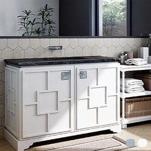 Fresh White Pavillion Cabinet Vanities 29 3/4x21 3/4
