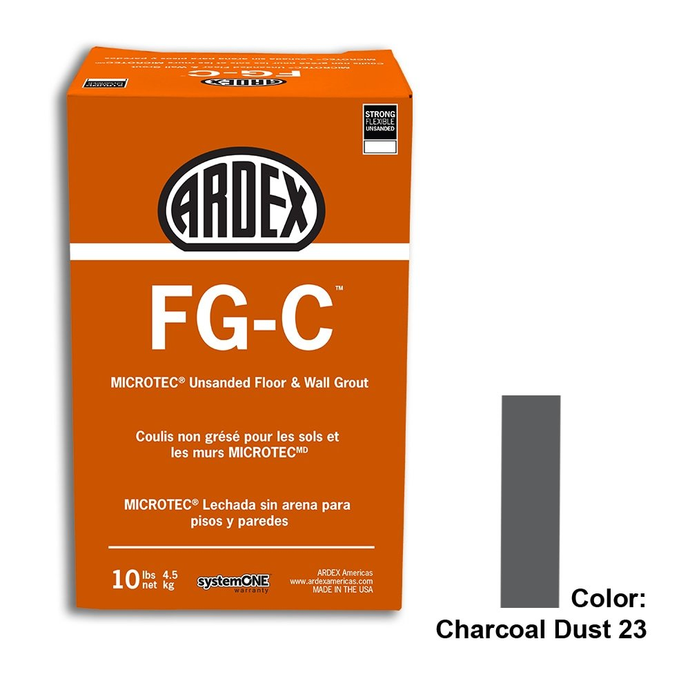Charcoal Dust Tile Setting Materials Fg-c Unsanded Grout Custom
