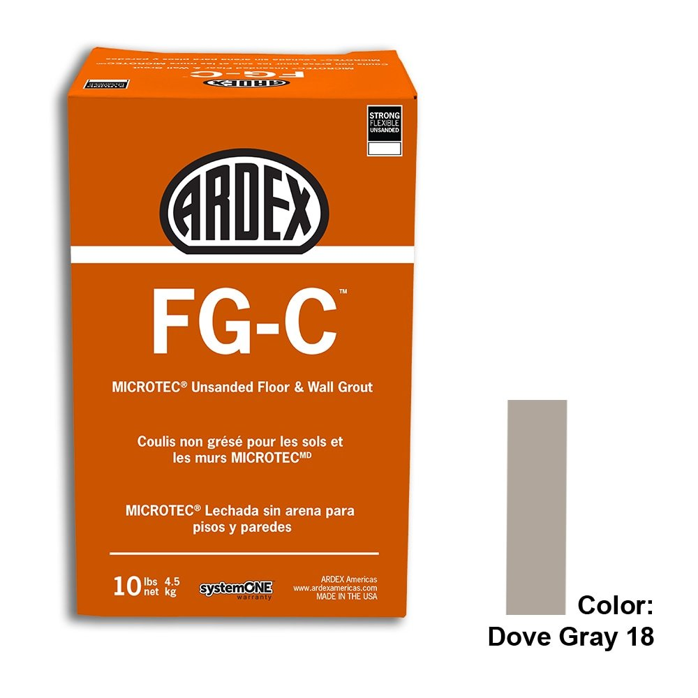 Dove Gray Tile Setting Materials Fg-c Unsanded Grout Custom