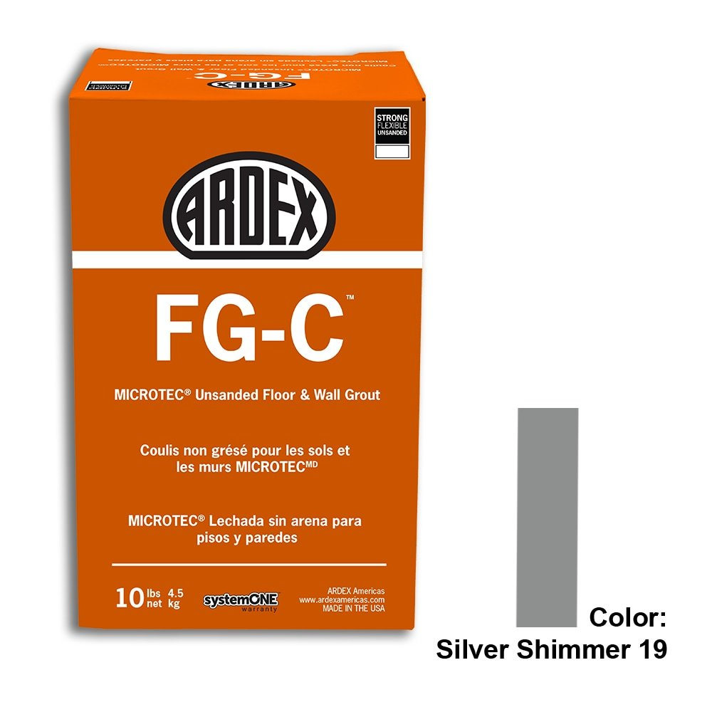 Silver Shimmer Tile Setting Materials Fg-c Unsanded Grout Custom