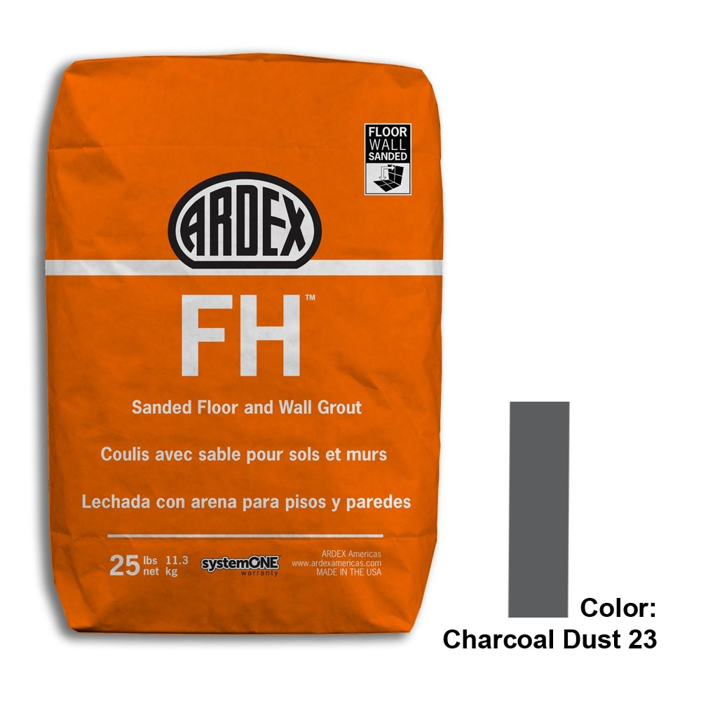 Charcoal Dust Tile Setting Materials Fh Sanded Grout Custom