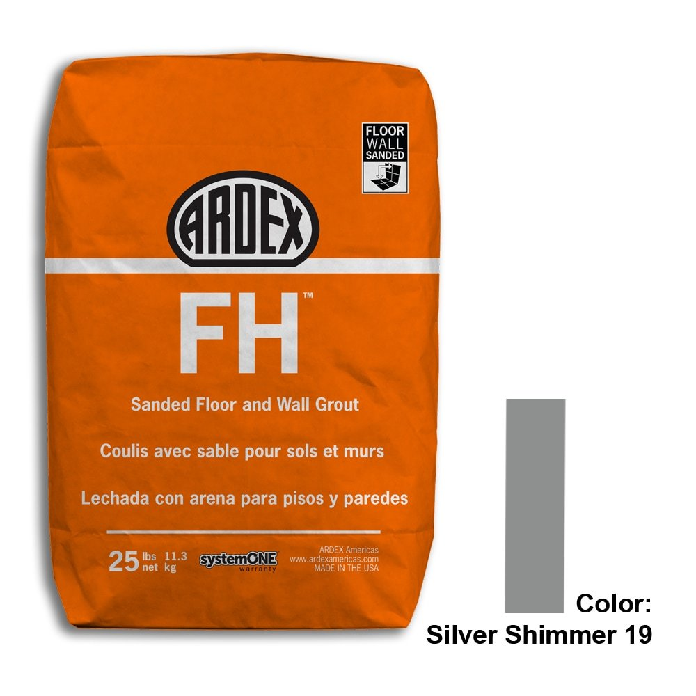 Silver Shimmer Tile Setting Materials Fh Sanded Grout Custom