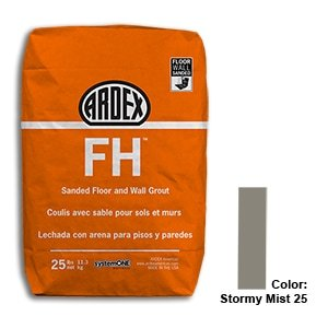Stormy Mist Tile Setting Materials Fh Sanded Grout Custom