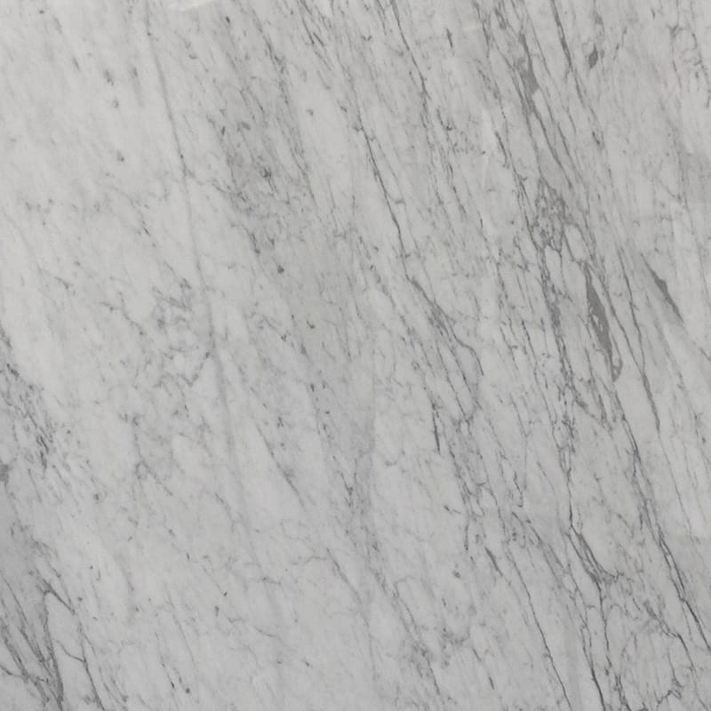 White Carrara Polished Random 1 1/4 Marble Slab