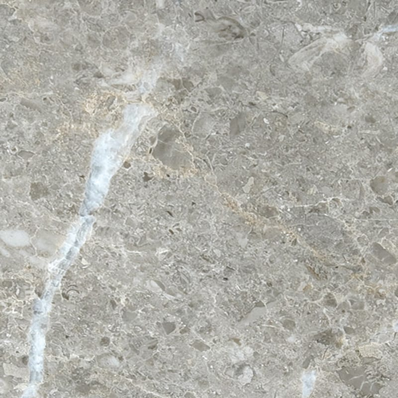 Silver Drop Polished Random 1 1/4 Marble Slab