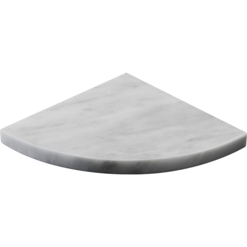 Avenza Honed Marble Corner Shelves 8x8