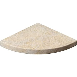 Seashell Honed Limestone Corner Shelves 8x8