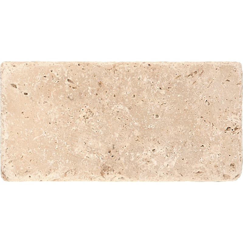 Ivory Tumbled Travertine Tiles 3×6
