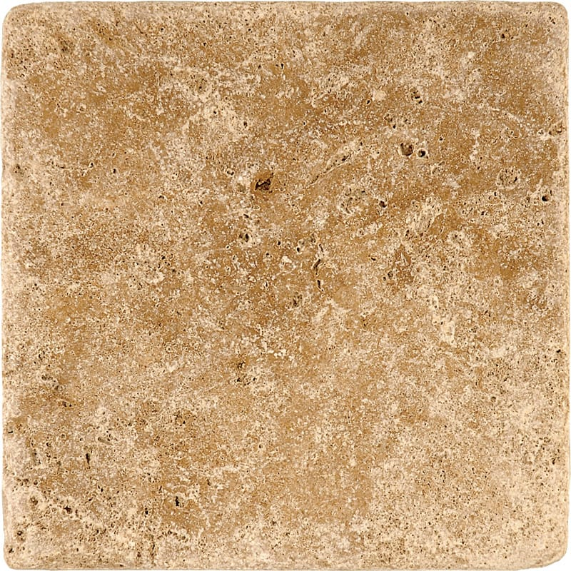 Walnut Dark Tumbled Travertine Tiles 6x6