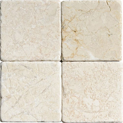 Sylvester Beige Tumbled Marble Tiles 4x4