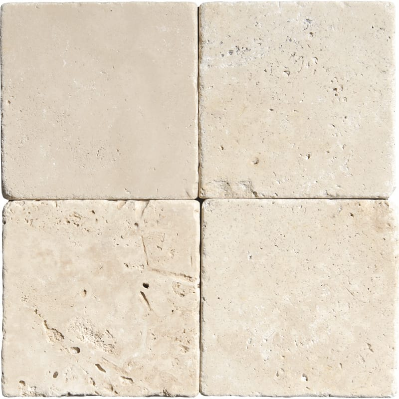 Ivory Tumbled Travertine Tiles 4×4
