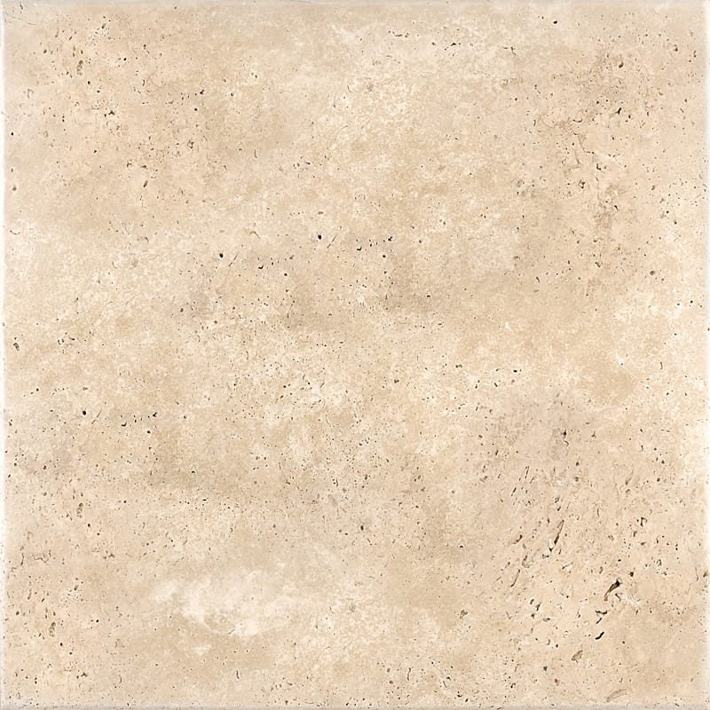 Ivory Antiqued Travertine Tiles 18x18