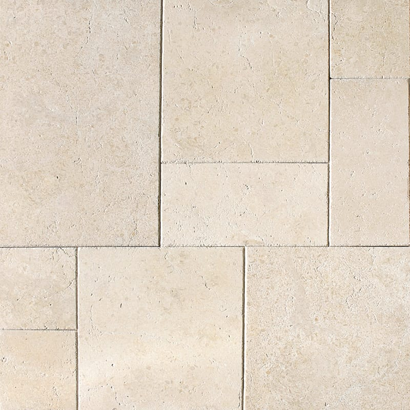 Seashell Antiqued Limestone Patterns Versailles Pattern