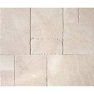 Desert Cream Brushed Chiselled Marble Patterns Versailles Pattern