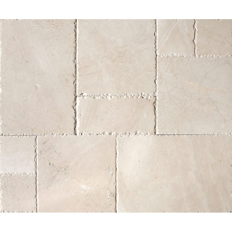 Desert Cream Brushed Chiselled Versailles Pattern Marble Patterns