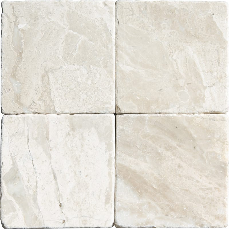 Diana Royal Tumbled Marble Tiles 4x4 Marble System Inc