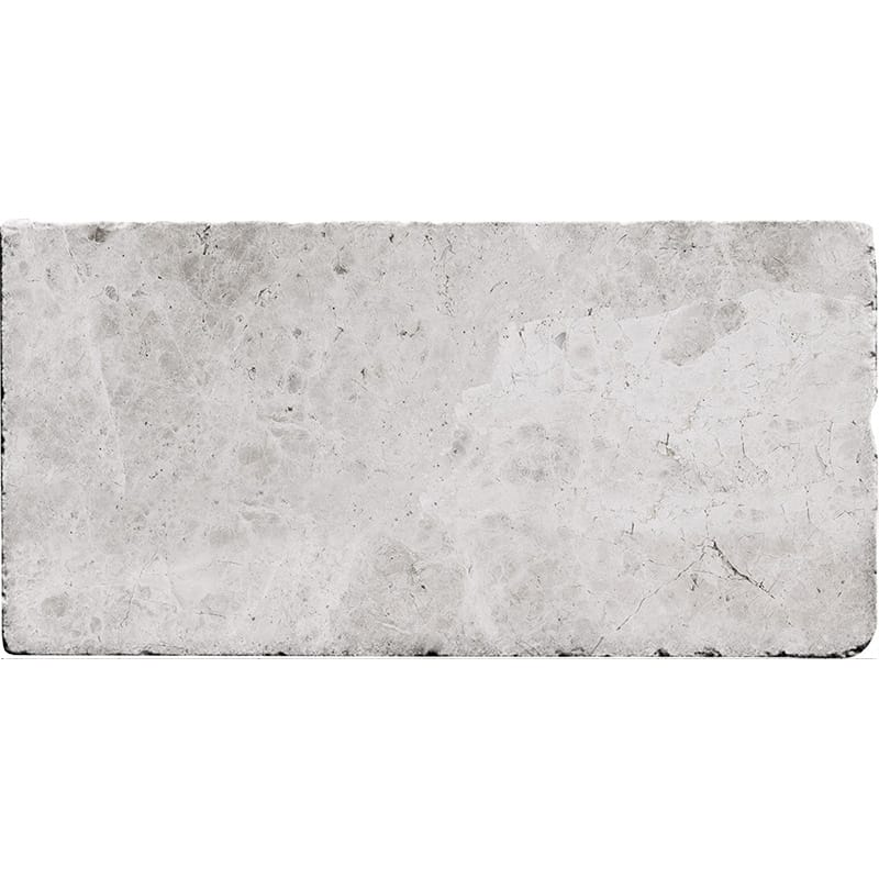 Silver Shadow Tumbled Marble Tiles 3×6
