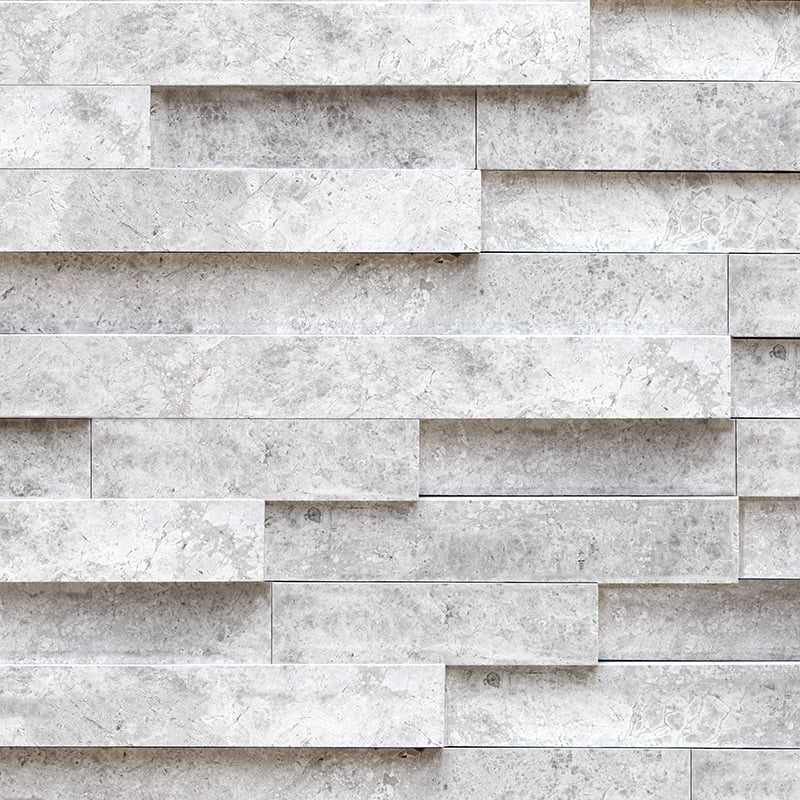 Silver Shadow Honed Marble Patterns Elevations Pattern