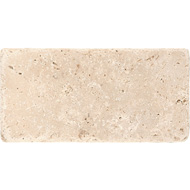 Ivory Classic Tumbled Travertine Tiles 3x6
