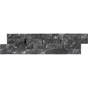 Black Ledger Marble Ledger Panel 6x24