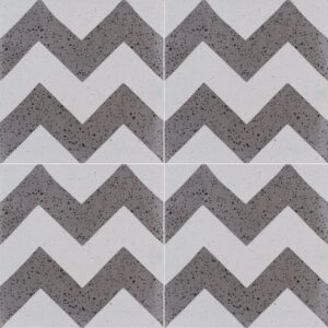 Brown, Beige Polished Allegro Cement Tiles 8x8
