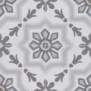 Brown, Light Brown, Beige, Gray Polished Bel Canto Cement Tiles 8x8