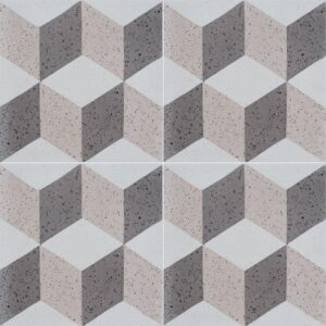 Brown, Light Polished Grave Cement Tiles 8x8
