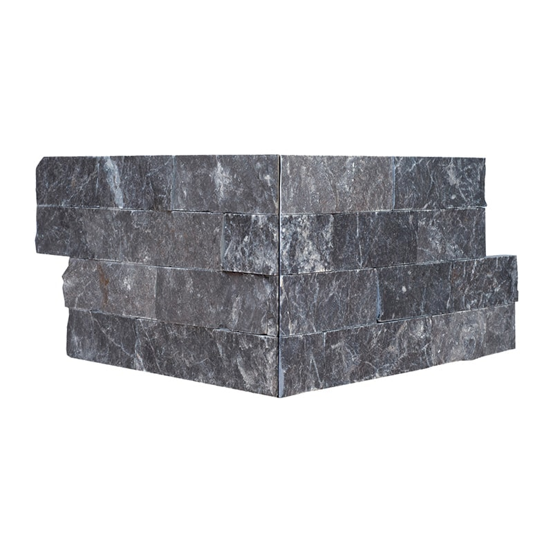 Black Ledger Corner Marble Ledger Panel 6×12