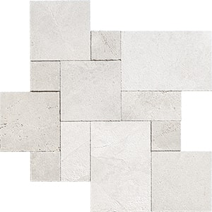 Fantasy White Textura Marble Pavers Versailles Pattern