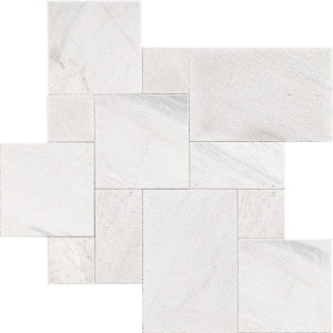 Fantasy White Textura Seal Marble Pavers Versailles Pattern