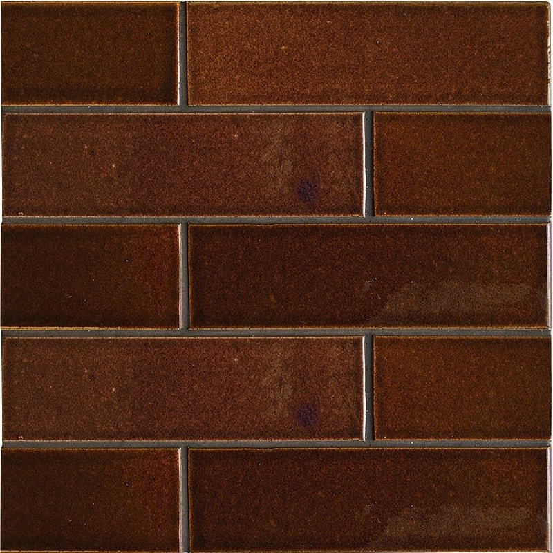 Canela Twist Gloss Ceramic Tiles 2 1/8×7 1/2