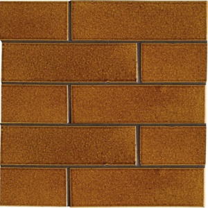 Malerie Nut Gloss Ceramic Tiles 2 1/8x7 1/2
