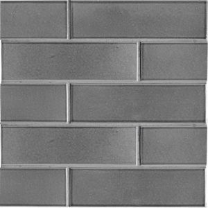 Fedora Gray Gloss Ceramic Tiles 2 1/8x7 1/2