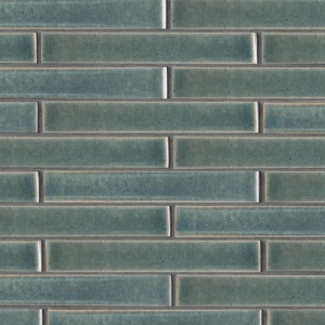 Aqua Marine Leather Ceramic Tiles 1 5/8x11 5/8