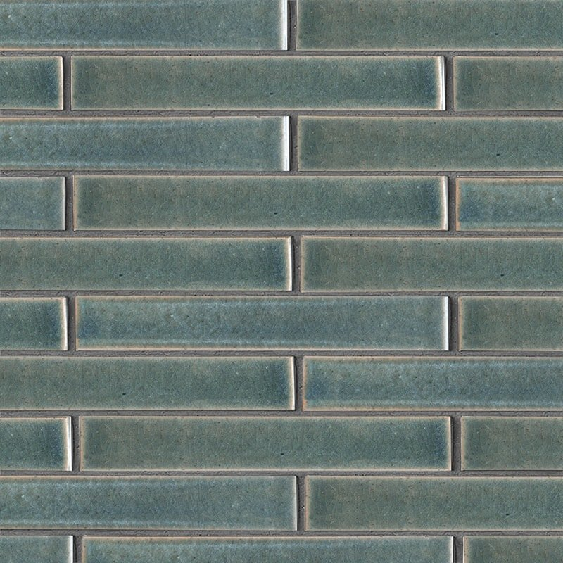 Aqua Marine Leather Ceramic Tiles 1 5/8×11 5/8