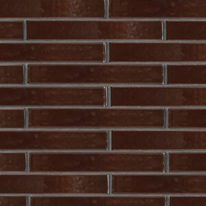 Old Port Brown Gloss Ceramic Tiles 1 5/8x11 5/8