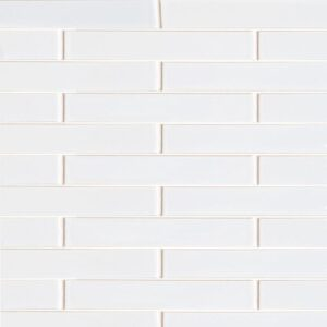 White Brick Gloss Ceramic Tiles 1 5/8x11 5/8