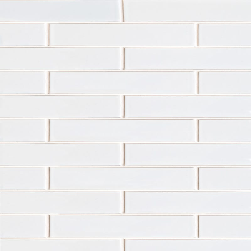 White Brick Gloss Terracotta Tiles 1 5/8×11 5/8