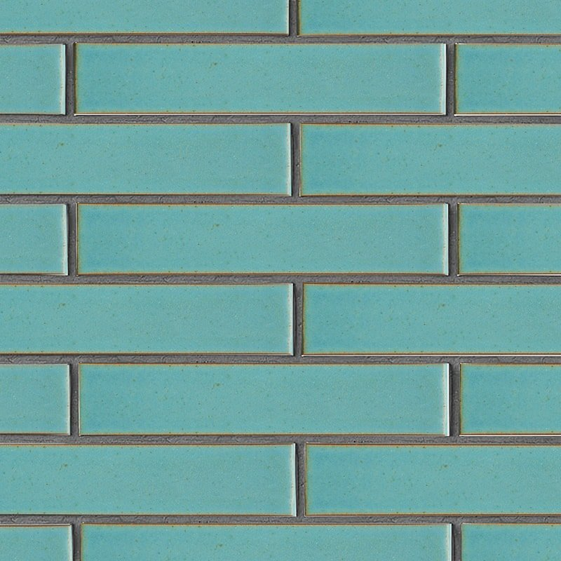 Turquoise Flats Leather Ceramic Tiles 2 1/4×11 5/8