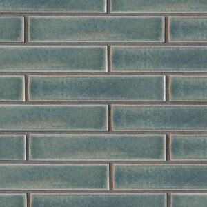 Aqua Marine Leather Ceramic Tiles 2 1/4x11 5/8