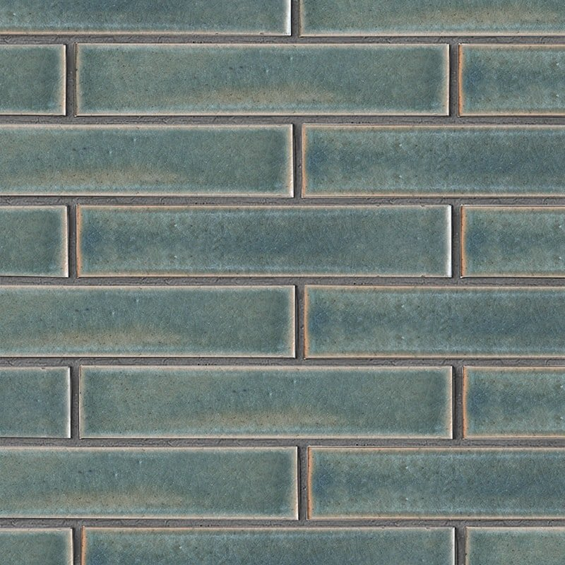 Aqua Marine Leather Ceramic Tiles 2 1/4×11 5/8